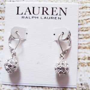 Crystal Pave Ball Drop Earrings